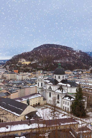 Salzburg Austria at winter - architecture  photo