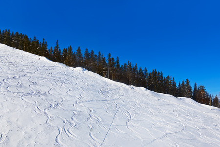 Mountains skis track - St. Gilgen Austria - nature and sport  photo