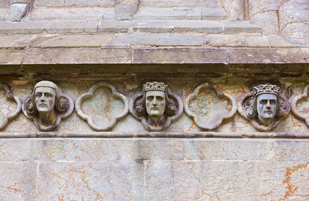 stone carving: Cathedral church at Stavanger Norway - religion  Stock Photo