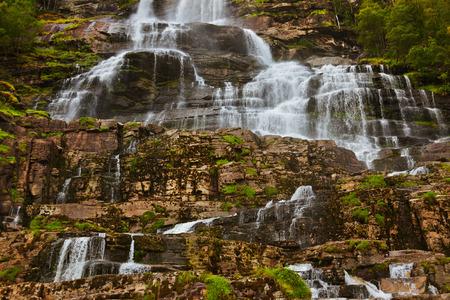 Tvinde fossen Waterfall - Voss Norway - nature and travel  photo
