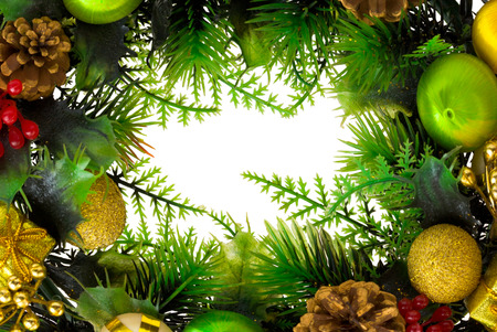 Christmas wreath isolated on white background photo
