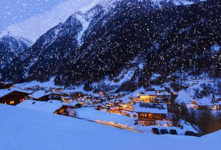 Mountains ski resort Solden Austria photo