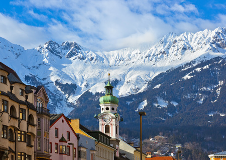 Old town in Innsbruck Austria - architecture background photo