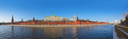 Panorama of Kremlin in Moscow (Russia) at winter photo