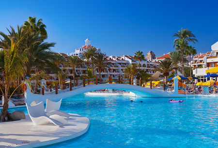 canary island: Water pool at Tenerife island - vacation  Editorial