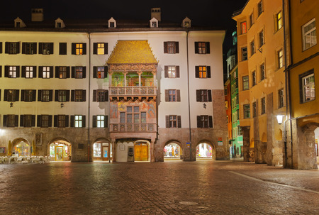 Famous golden roof in Innsbruck Austria - architecture background photo