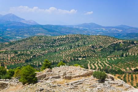 antigua grecia: Ruinas de Ciudad de Micenas, Grecia