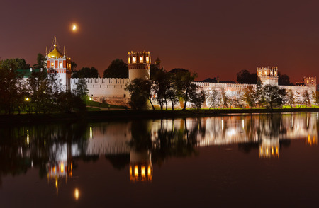 Novodevichiy convent in Moscow Russia - architecture background photo