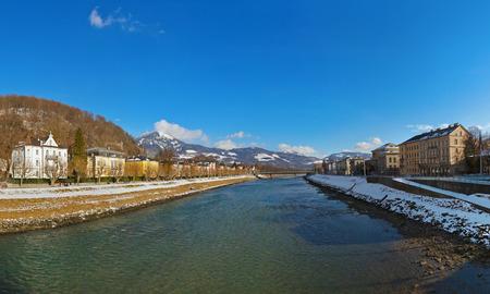 Panorama Salzburg Austria - travel background