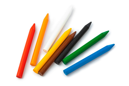 vax: Colored vax pencils isolated on white background