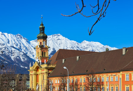 Old cathedral in Innsbruck Austria - architecture background photo