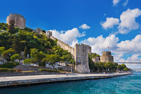 rumeli: Rumeli Fortress at Istanbul Turkey - architecture background Stock Photo
