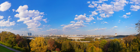 Panorama of Moscow Russia - architecture background photo