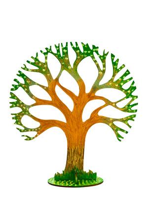 Toy tree isolated on white background photo