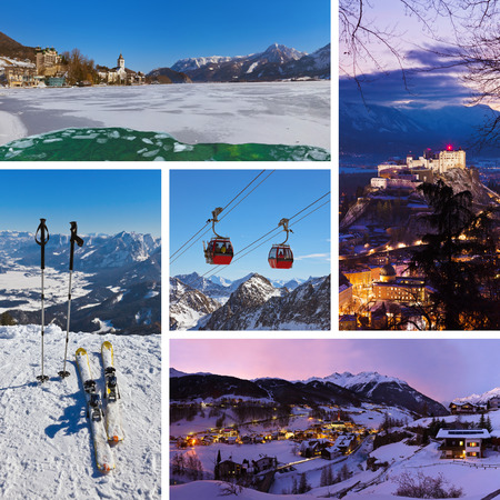 Collage of Austria images - nature and sport background (my photos) photo