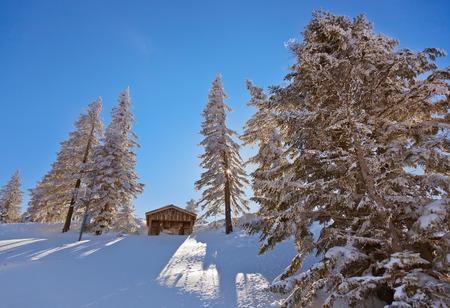 Mountains ski resort St. Gilgen Austria - nature and sport background photo