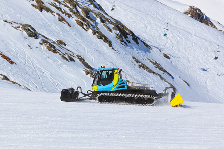 Snowplow at Mountains ski resort Innsbruck Austria - nature and sport background photo