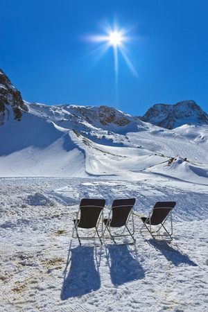 longue: Mountains ski resort Innsbruck Austria - nature and sport background