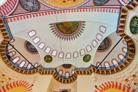 suleymaniye: Suleymaniye Mosque in Istanbul Turkey - architecture religion background