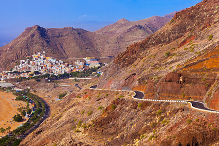 Road to beach Teresitas in Tenerife - Canary Islands Spain photo