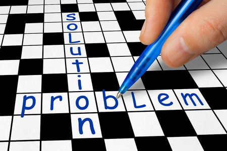 crossword puzzle: Hand filling in crossword - Problem and Solution