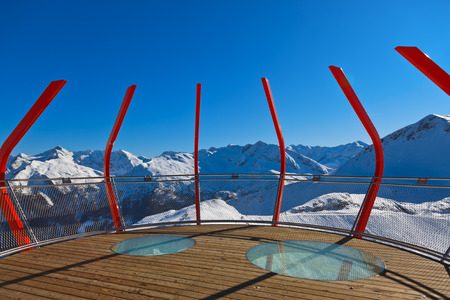 Viewpoint at mountains ski resort Bad Gastein Austria - nature and sport background Stock Photo