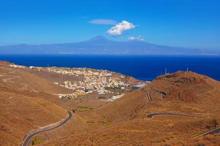 wild canary: Road in La Gomera island - Canary Spain Stock Photo