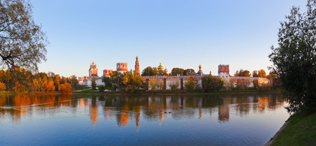 convent: Novodevichiy convent in Moscow Russia - architecture background Stock Photo