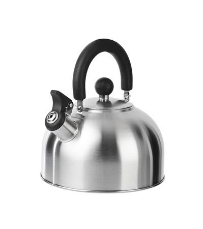 kettles: Estufa caldera que silba aislado en fondo blanco