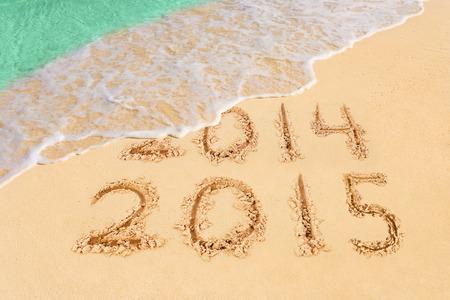 coastline: Numbers 2015 on beach