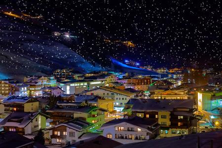 Mountain ski resorts in Solden Austria photo
