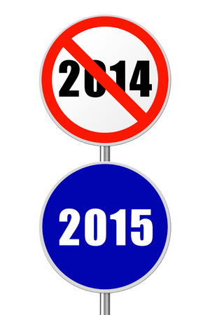 Round sign 2015 - New Year concept isolated on white background photo