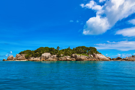 Tropical island at Seychelles - vacation nature background photo