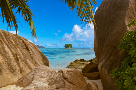 Beach Source dArgent at Seychelles - nature background photo