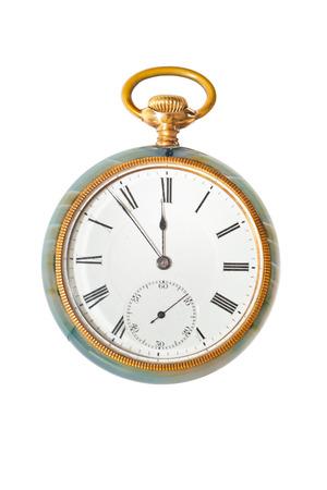 Retro watch isolated on white background photo