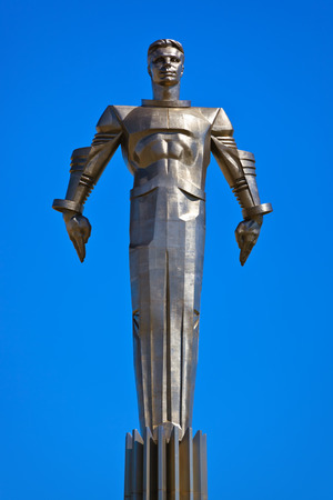 yuri: Yuri Gagarin monument on Gagarin Square - in Moscow Russia
