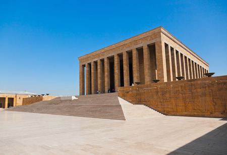 ataturk: Mustafa Kemal Ataturk mausoleum at Ankara Turkey Editorial