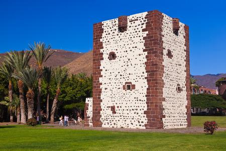 conde: Tower Torre del conde in San Sebastian - La Gomera Island - Canary Spain Editorial