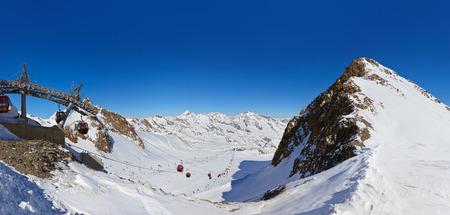 Mountains ski resort Innsbruck Austria - nature and sport background photo
