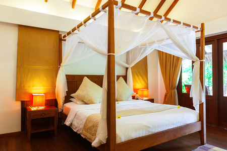 accomodation: Hotel room at Maldives - vacation concept background