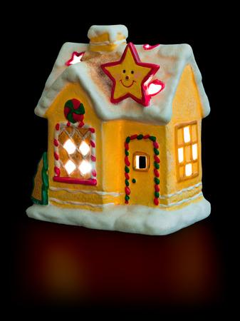 lighting background: Lighting house isolated on black background Stock Photo