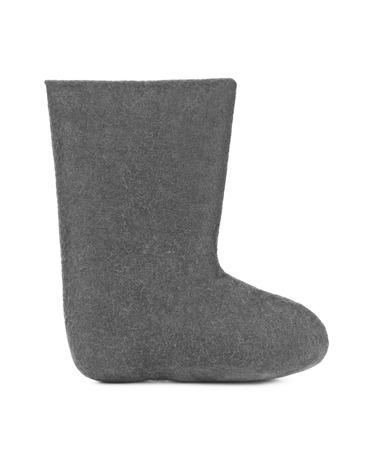 valenki: Felt boots - isolated on white background