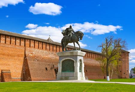 The monument to Dmitry Donskoy in Kolomna Kremlin - Russia - Moscow region
