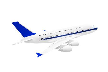 Model of plane isolated on white background photo