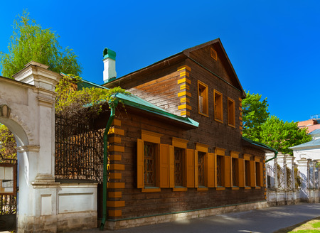 Old wooden house in golutvinsky street - Moscow Russia