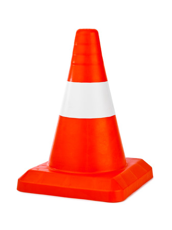 traffic cone: Traffic cone isolated on white background