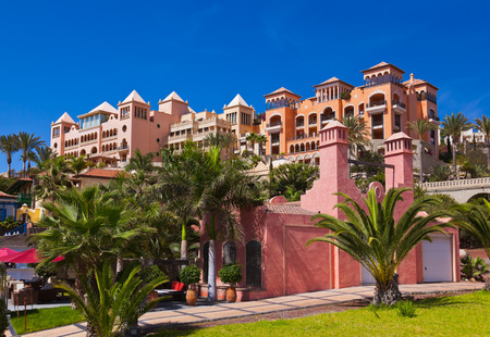 canary island: Architecture at Tenerife island - Canaries vacation background Editorial