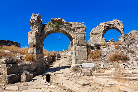 archaeology: Ruins at Aspendos in Antalya, Turkey - archaeology background