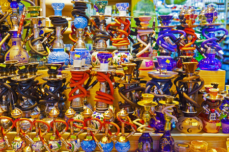 smoking: Hookah in souvenir shop at Istanbul Turkey
