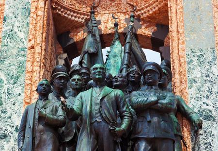 mustafa: Mustafa Kemal Ataturk statue in Istanbul Turkey - architecture background